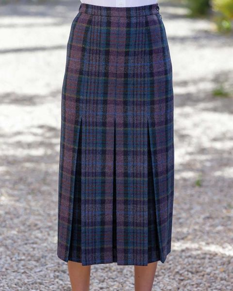 Hayle Pure Wool Pleated Skirt