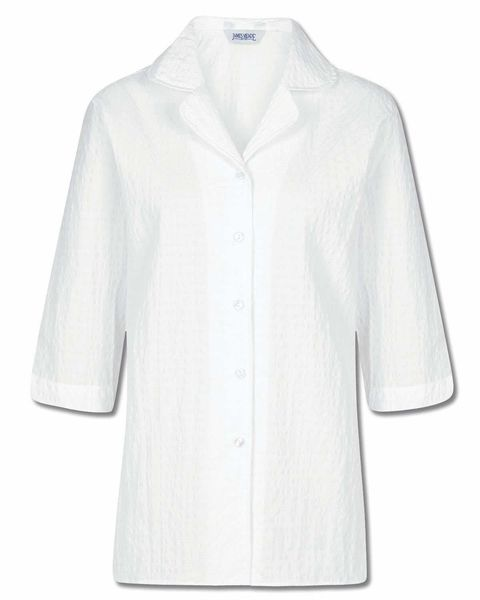 Gail Cotton Rich White Blouse