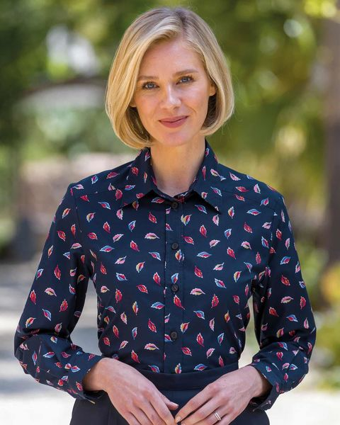Harper Pure Cotton Patterned Blouse