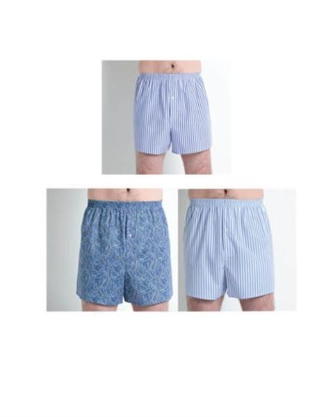 Pack of 3 Cotton Boxer Shorts - Mens