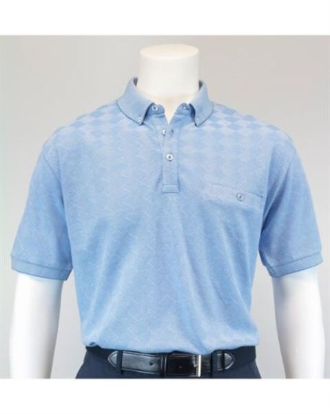 Diamond Design Cotton Polo Shirt