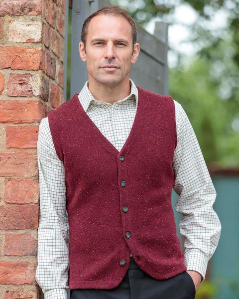 Lambswool Knitted Waistcoat - Mens
