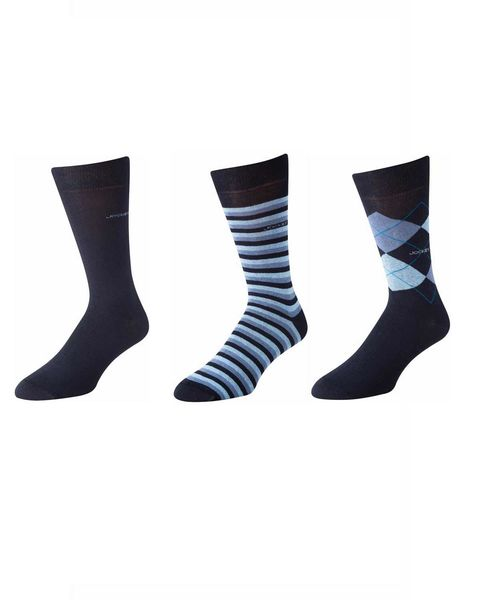 3 Pack of Pattern Jockey Socks