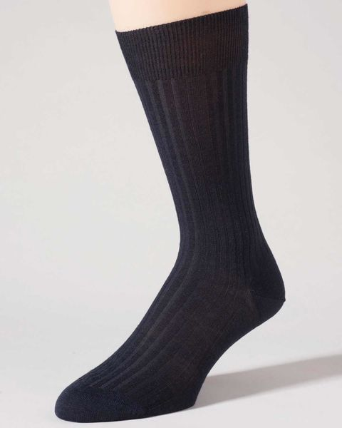 Pure Wool Navy Ankle Socks