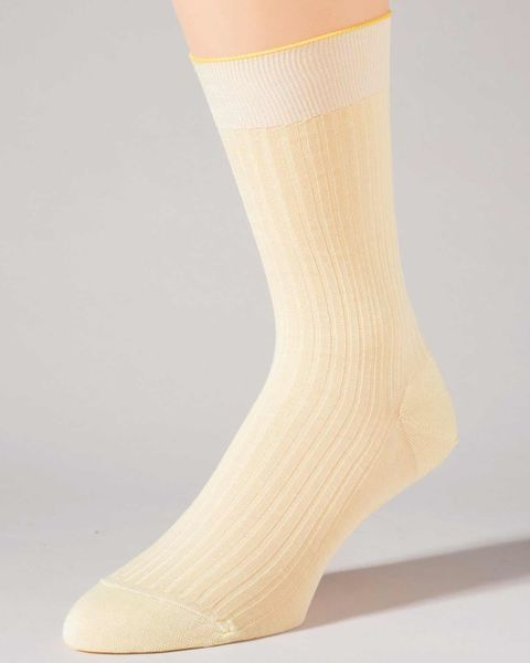 Pantherella Pure Cotton Ankle Socks-Yellow
