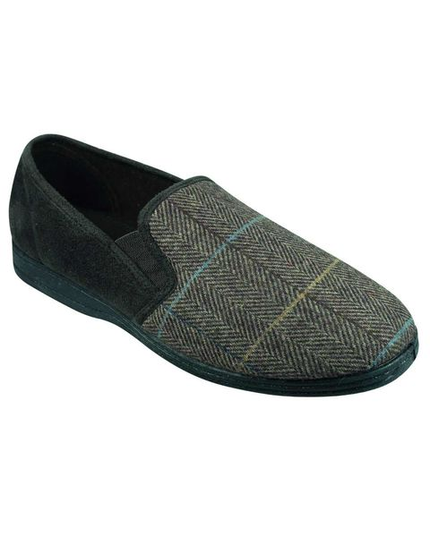 Grisport Mens Checked Slipper