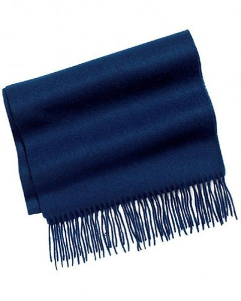 Navy Pure Lambswool Scarf