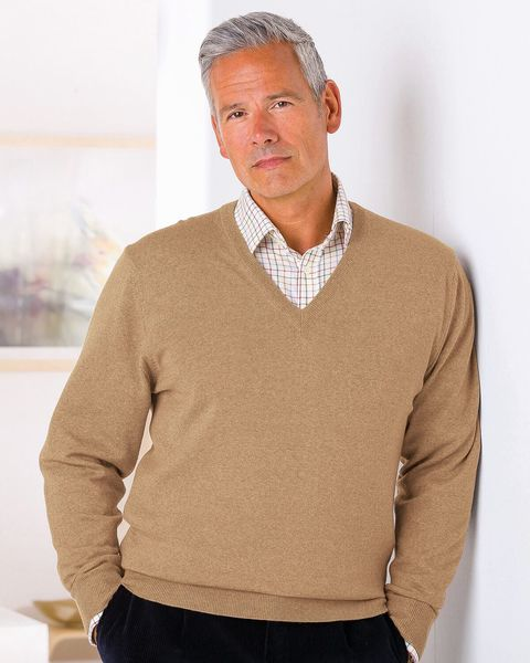 Merino V neck Sweater - Mens