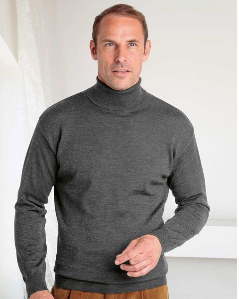 Merino Roll Neck Sweater  Mens