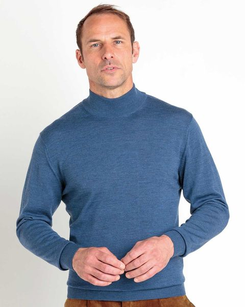 Merino Turtle Neck Sweater - Mens