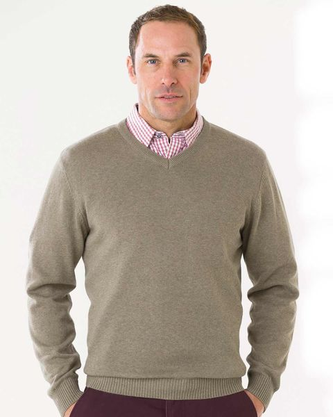 Cotton V Neck Sweater