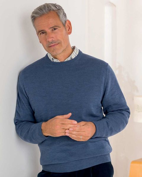 Merino Crew Neck Sweater  Mens