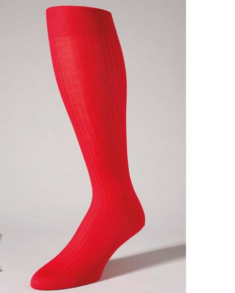 Pure Cotton Red Knee Socks
