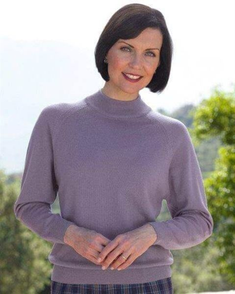 Heather Merino Turtle Neck Sweater