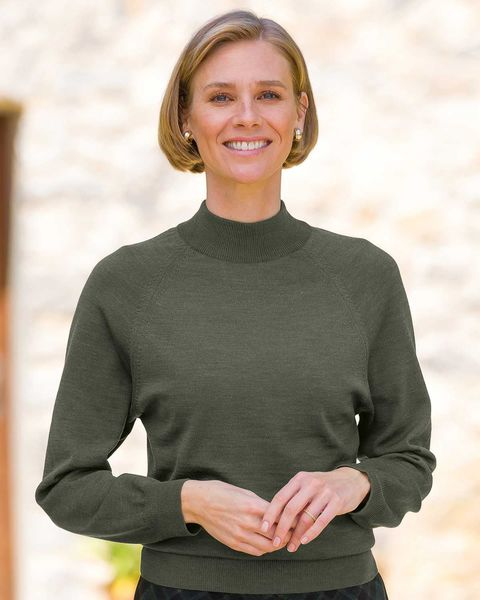 Merino Wool Turtle Neck Sweater