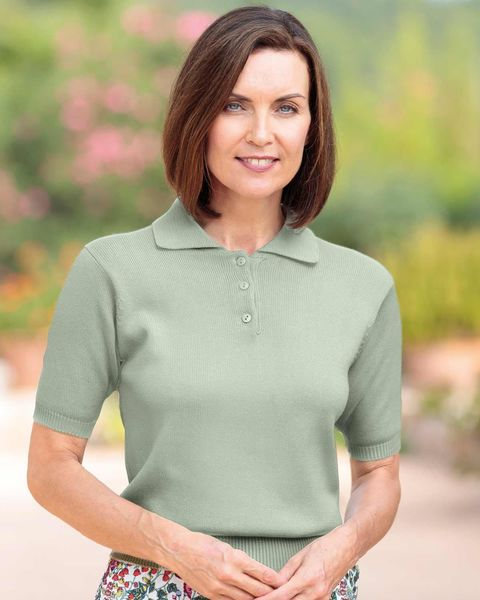 Luxury Knit Ladies Polo Shirt