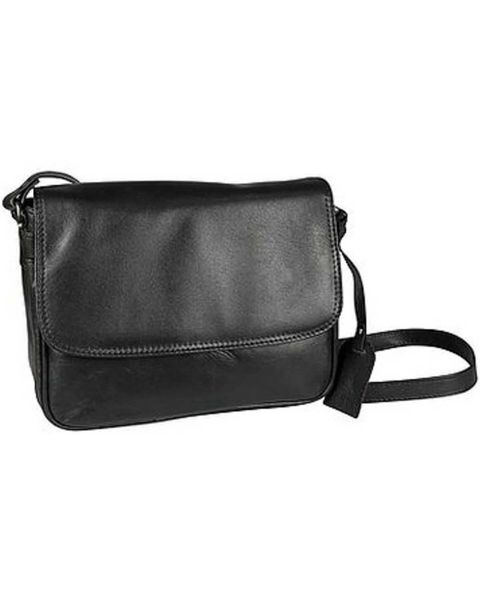Leather Half Flap Handbag
