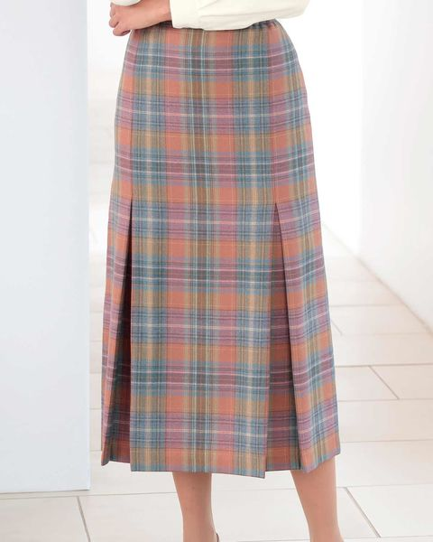 Craigleith Multi Coloured Pure Wool Skirt