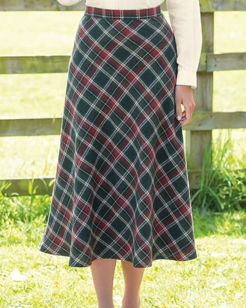 Tiree Multi Coloured Wool Blend Skirt