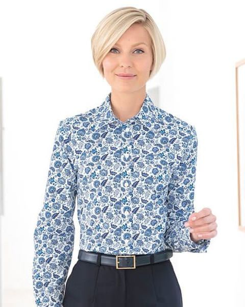 Donna Multi Coloured Pure Cotton Liberty Blouse