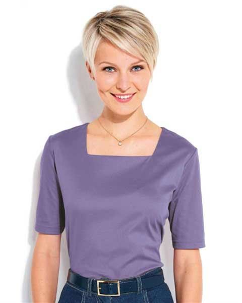 Silky Cotton Square Neck Top