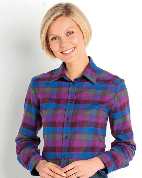 Carmen Checked Pure Cotton Blouse