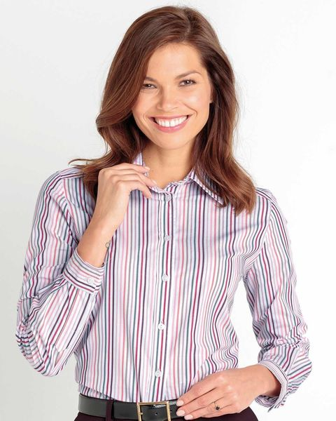 Kathryn Striped Pure Cotton Blouse