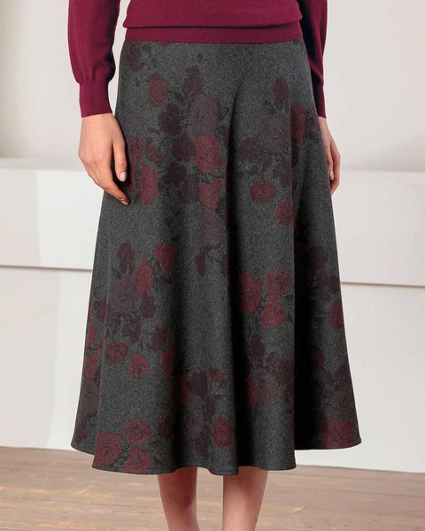Beverley Wool Mix Floral Skirt