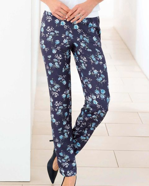 Emma Floral Supersoft Viscose Trousers