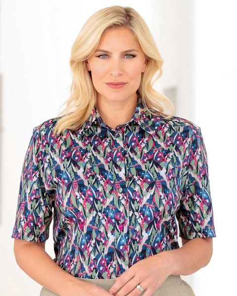 Megan Floral Pure Silky Cotton Blouse