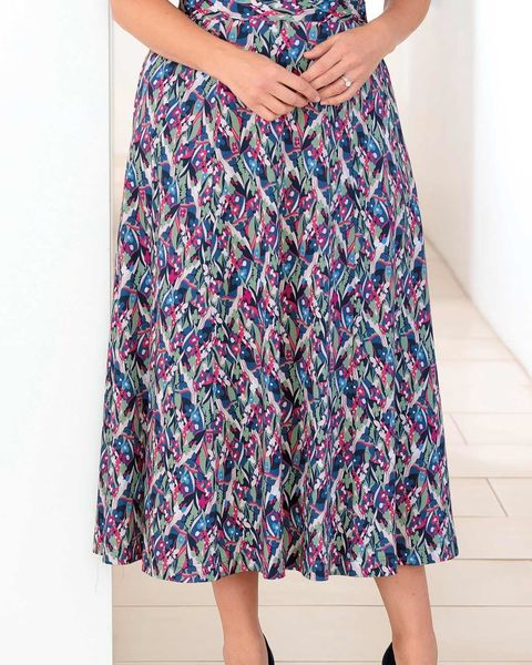 Megan Floral Pure Silky Cotton Skirt