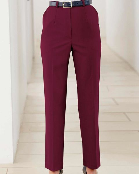 Sandown Cranberry Trousers  Ladies