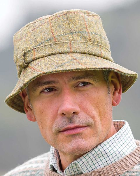 Teflon-Coated Wool Tweed Hat