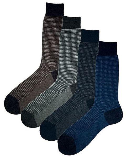 Fine houndstooth socks
