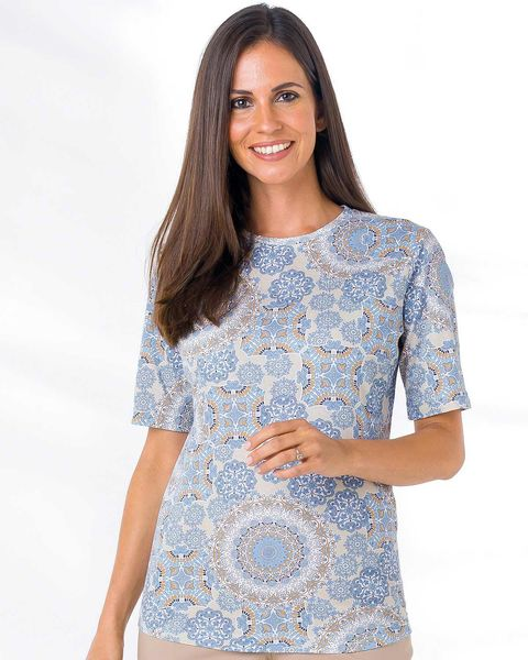 Robina Patterned Pure Cotton Leisure Top
