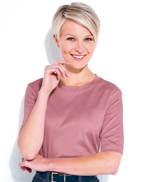 Silky Cotton Crew Neck Top