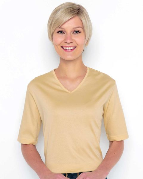 Silky Cotton V Neck Top