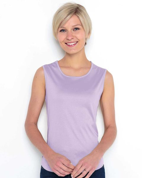Silky Cotton Sleeveless Top
