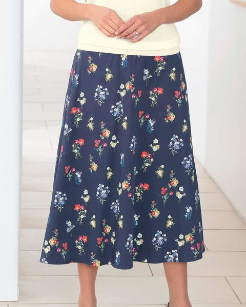Estelle Cotton Navy Skirt