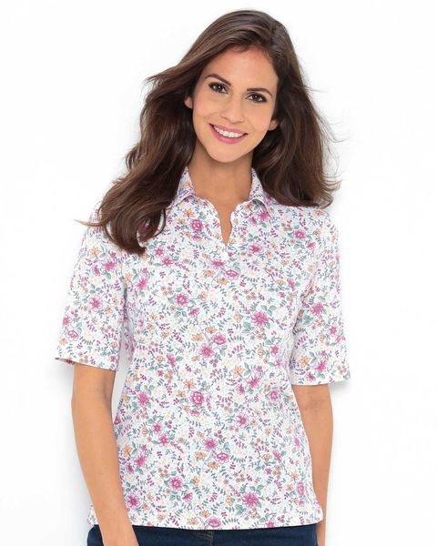 Nicole Multi Coloured Pure Cotton Polo