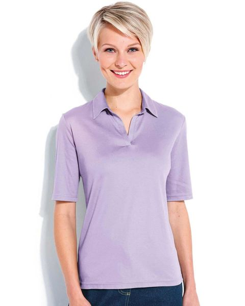 Silky Cotton Ladies Polo Top