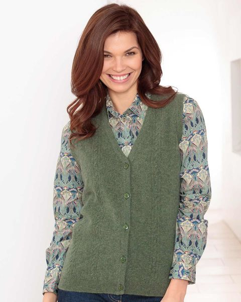 Lambswool Cable Waistcoat