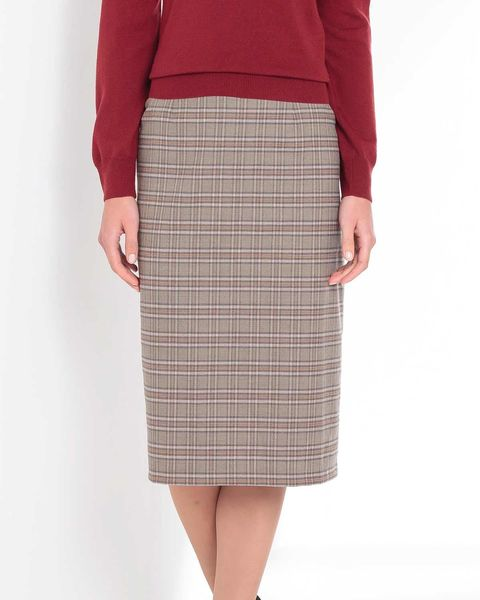 Murray Multi Coloured Wool Blend Straight Skirt