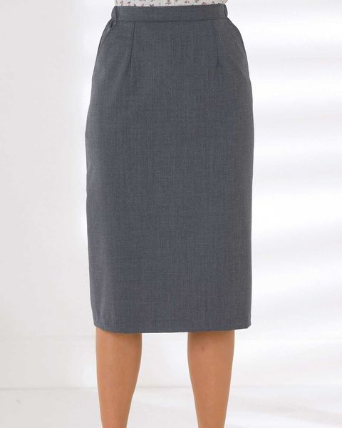 Sandown Wool Mix Straight Skirt