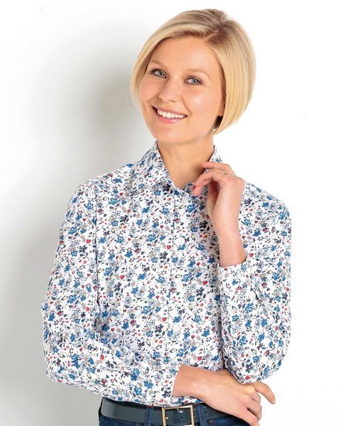 Yvette Floral Pure Cotton Blouse