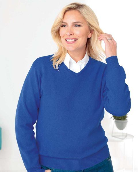 Lambswool V Neck Sweater