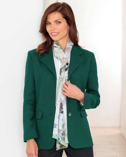 Corbridge Forest Green Pure Wool Tweed Jacket