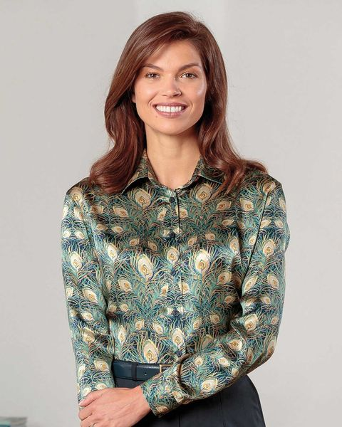 Alexandria Floral Liberty Print Pure Silk Blouse