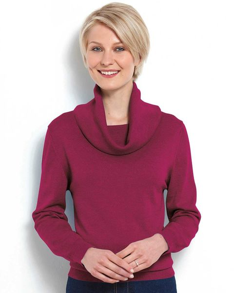 Cowl Neck Merino Sweater
