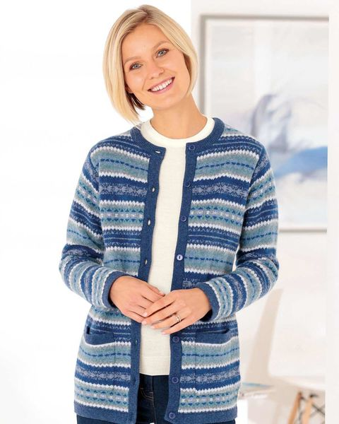 Dixie Pure Lambswool Fairisle Cardigan